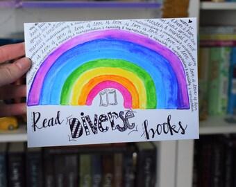 Read Diverse Books Rainbow Print