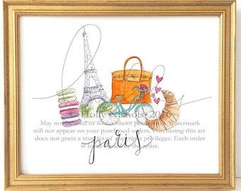 Paris Whimsy (Fashion Illustration Print)