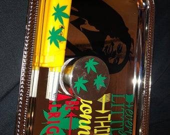 Custom Tray Grinder and Lighter Set