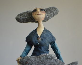Fisherman's Daughter. Girl Art Doll. OOAK. Handmade.