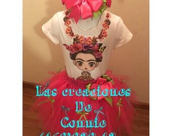 Frida Kahlo tutu dress outfit