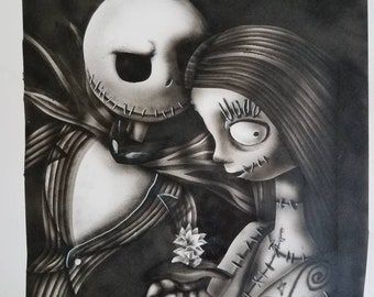 Jack et Sally the Nightmare before Christmas