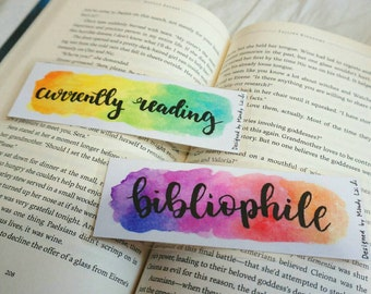 Currently Reading/Bibliophile bookmark