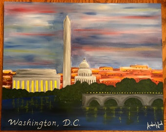 DC Monuments Painting