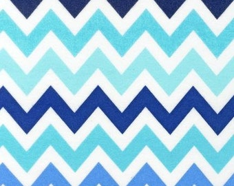 FAT QUARTER ONLY- Surf Remix Chevron From Robert Kaufman