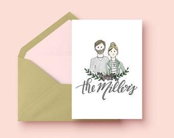 Custom Family Portrait Cards