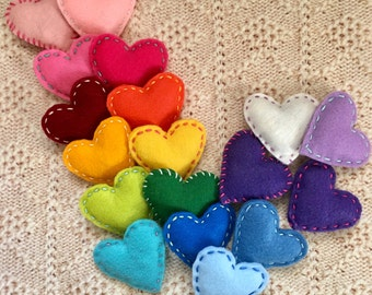 Felt Heart Cat Toy with Catnip and Jingle Bell