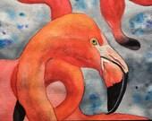 Flamingo, Original Waterc...