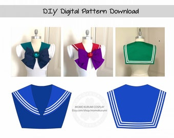 DIY- Sailor Collar Pattern (Sizes XS/S/M)