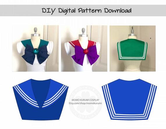 Diy sailor collar pattern sizes xssm from momokurumi on etsy studio solutioingenieria Gallery