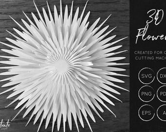 3D Flower SVG 6