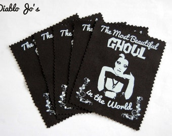 The Munsters Lily Munster sew on patch, screen printed horror gothic cult