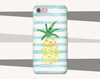 Pineapple iPhone Case, Tropical iPhone Case, iPhone 6 Case Striped, Summer Phone Case, Pineapple Phone Case, Summer iPhone 7 Case, 6 Plus