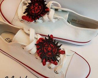 Supernatural Anti-possession symbol shoe lace accessories!