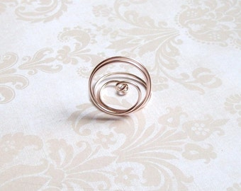 Small Placecard Holder - Rose Gold - Pink Wire - Place Card Seating - Swirl (set of 10)