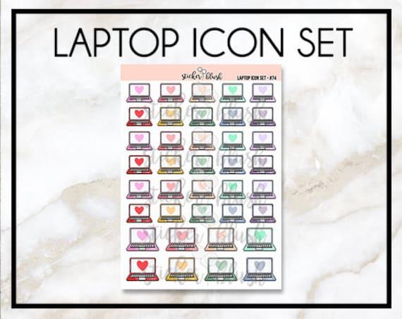 ordinateur portable ordinateur planner stickers pour planner. Black Bedroom Furniture Sets. Home Design Ideas