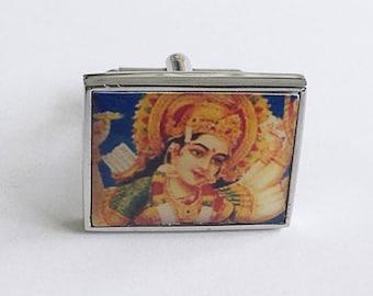 Vintage Hindu goddess cufflinks