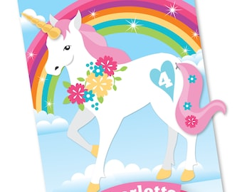 Unicorn Rainbow Pin the tail & horn on the Unicorn- party game - DIY party game, Rainbow Party - digital files