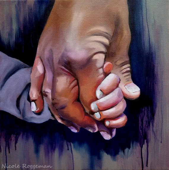 Father and son, Holding Hands, Grandpa Grandson, Fathers Day gift idea, family grandfather clasped hands, Nicole Roggeman, fathers day gift