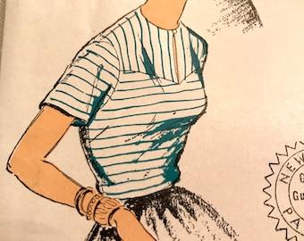 Vintage 1940's Blouse Pattern---New York Pattern 1359---Size 18  Bust 36  UNCUT