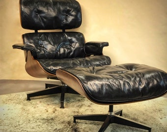 Authentic Herman Miller Eames Lounge Chair & Ottoman Original and Restored ICONIC