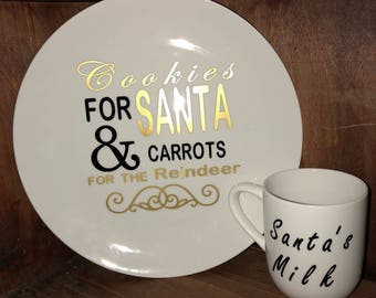 Cookies & milk plate for Santa