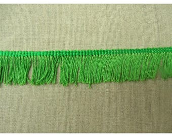 small fringe polyester - 3 cm - Green