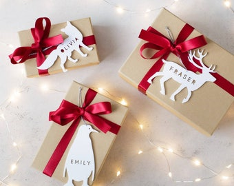 Personalised Arctic Animal Christmas Gift Tag