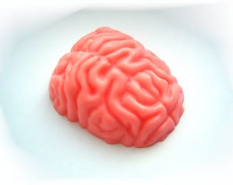 Brain mold, plastic mold, brain soap, brain soaps, unique soap, gothic soap, gothic mold, goth soap, soap mold, anatomical soap, zombie mold