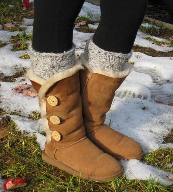 Items Similar To Boot Cuffs Leg Warmers Hand Knit