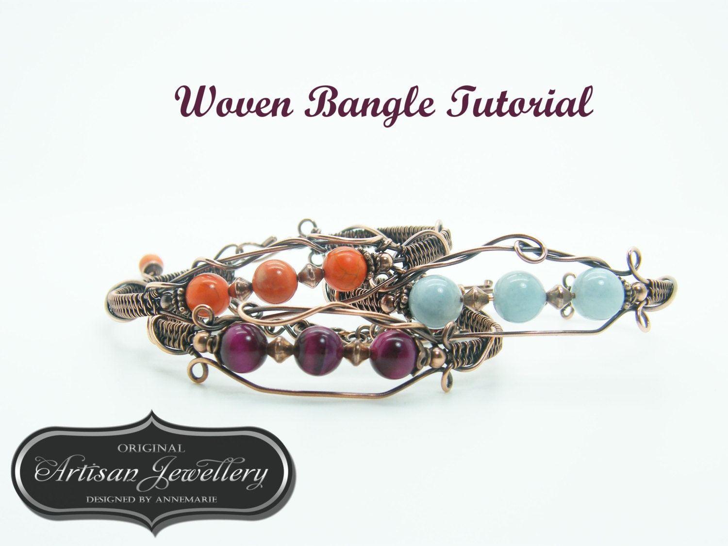 Wire wrap tutorial ~ Handmade jewelry ~ Instructions ~ Pdf ~ Wire ...