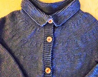 Woman Sweater With Collar, Women Cardigan Sweater, Women Sweater Size S, Ladies Cardigan Size M, Ladies Sweater Size L, Gray Ladies Sweater,