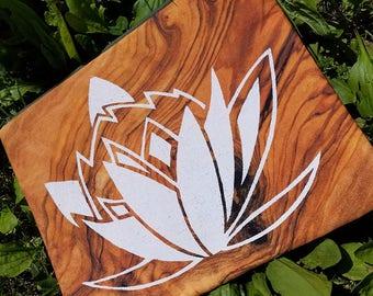 Wood Lotus Photo Print Silkscreened Bag