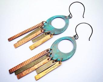 Gypsy Boho Chandelier Earrings