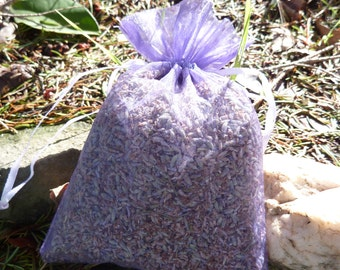 Set of 3 Large Dried Lavender Sachets- Provence Lavender -  Fresh Crop  -  Great For Weddings, Home Decor, and Much More!