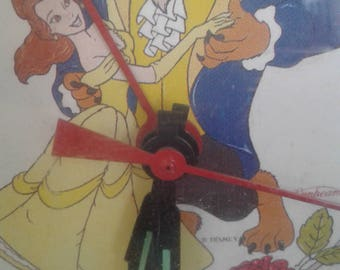 """Vintage  1992 Disney's """"Beauty and the Beast """" Alarm Clock By Sunbeam/ Never Used/Still in the Box"""