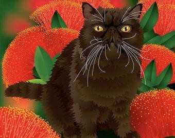 "Custom Cat Portrait - Full body - 8""x 8"" Print"