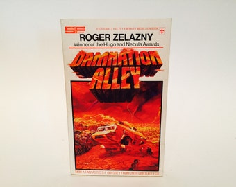 Vintage Sci Fi Book Damnation Alley by Roger Zelazny 1977 Movie Tie-In Edition Paperback
