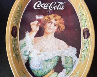 RARE Beautiful Vintage 1973 COCA COLA - Tip Tray - Madein  U.S.A