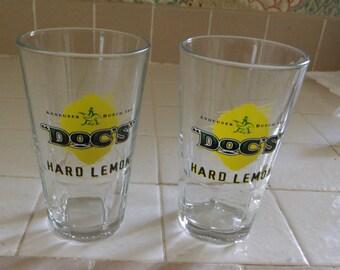 Doc Hard Lemonade Glasses (2) Pint