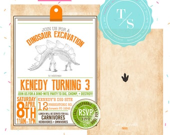 Dinosaur Party Invitation DIGITAL