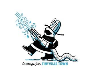 Tinyville Town: I'm a Firefighter screenprint