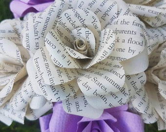 The Notebook Book Bouquets-Book lover gift-Book Bouquet-Book decor- Unique Gift- Bridal Bouquet- Paper Flowers-Wedding- Romantic gift