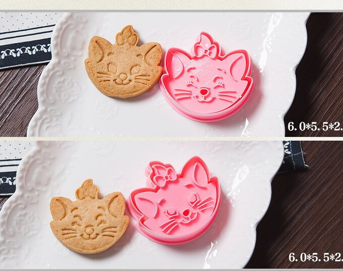 Marie the Cat Cookie Cutter Mold Set - Walt Disney Marie Aristocats Berlioz Toulouse