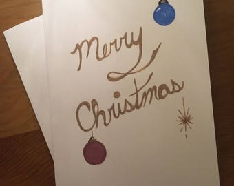 Christmas Sparkle - Pack of 5 Cards + Envelopes