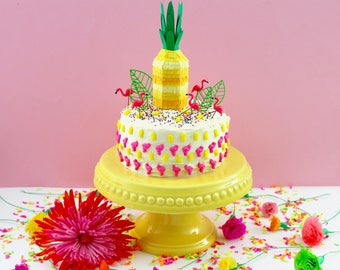 Pineapple Cake Topper, Tutti Frutti Party, Mini Piñata Pineapple Decoration, Luau Decoration, Pineapple Party, Tropical Beach Party 1 TOPPER