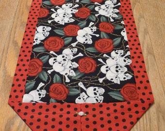 Skulls & Roses Table Runner