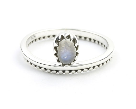 Minimal Moonstone Ring, Sterling Silver Moonstone Ring, Stone Jewelry, Gemstone, Crystals, Boho, Gypsy, Minimal