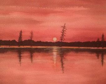 Duck Creek, Original Watercolor Painting