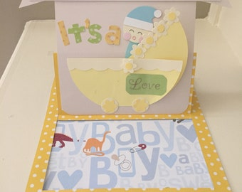Baby Boy Pop-up Card